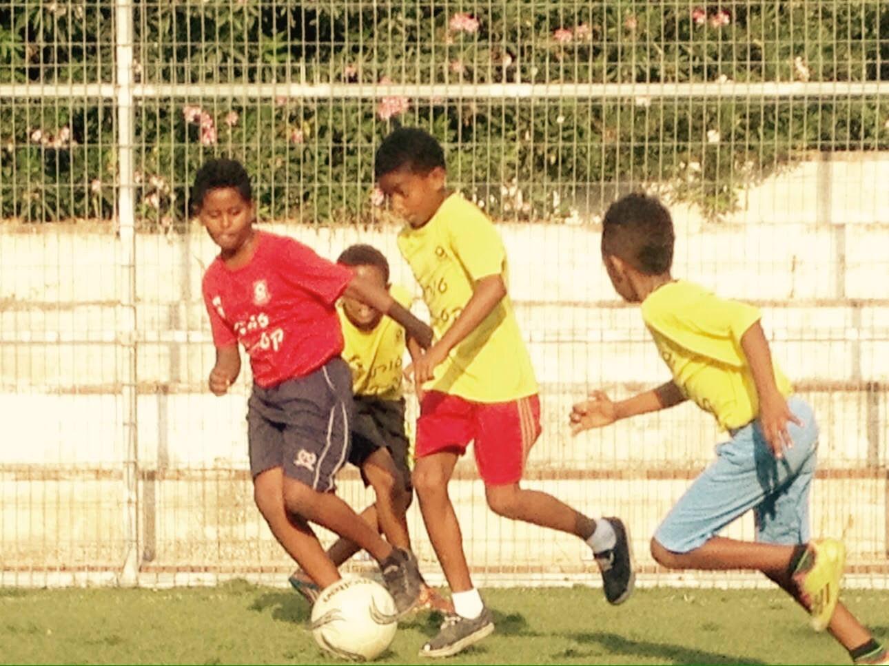 התלמידים במהלך המשחק